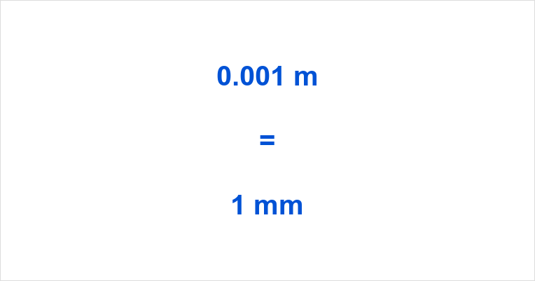 0.001 m to mm