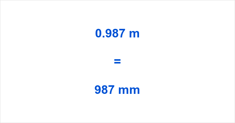 0 987 M To Mm 0 987 Meters To Millimeters