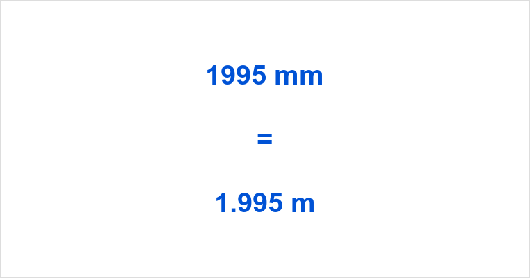 1995 mm to m