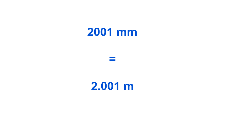 2001 mm to m