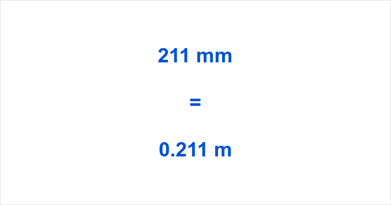 211 mm to m