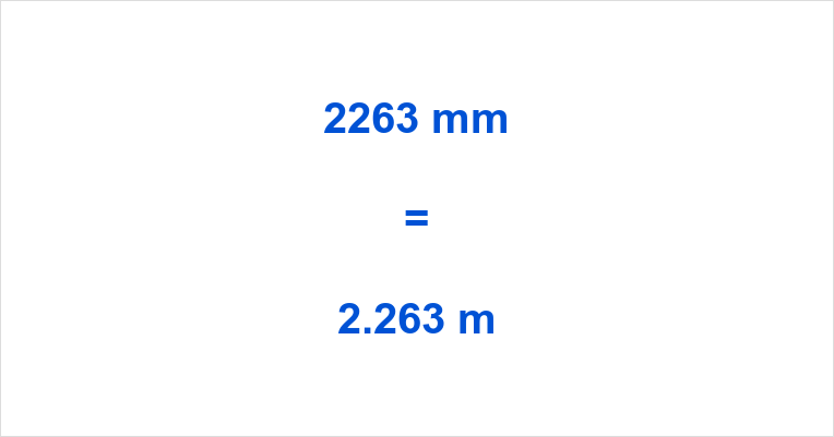2263 mm to m