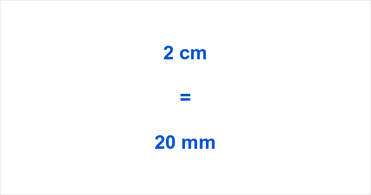 2 cm to mm
