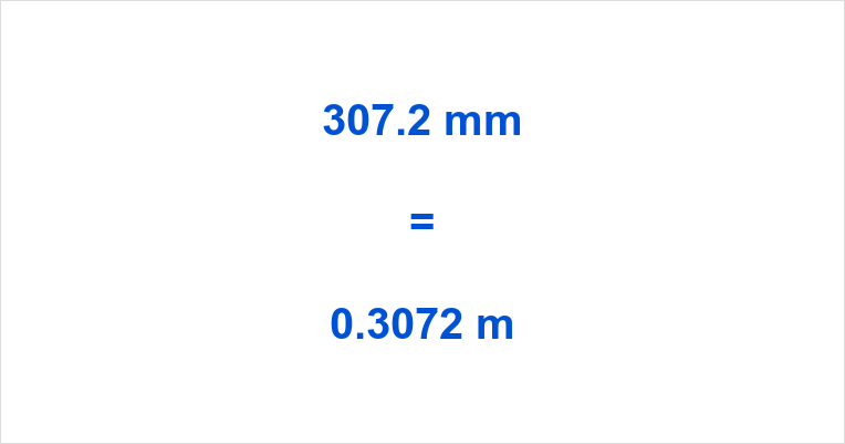307.2 mm to m