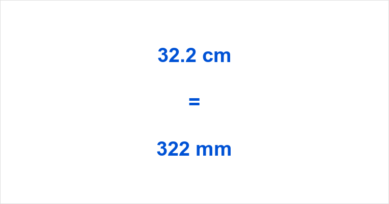32.2 cm to mm How many mm in 32.2 cm 32.2 cm in mm