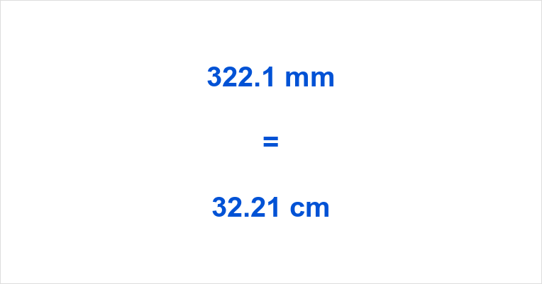 322.1 mm to cm