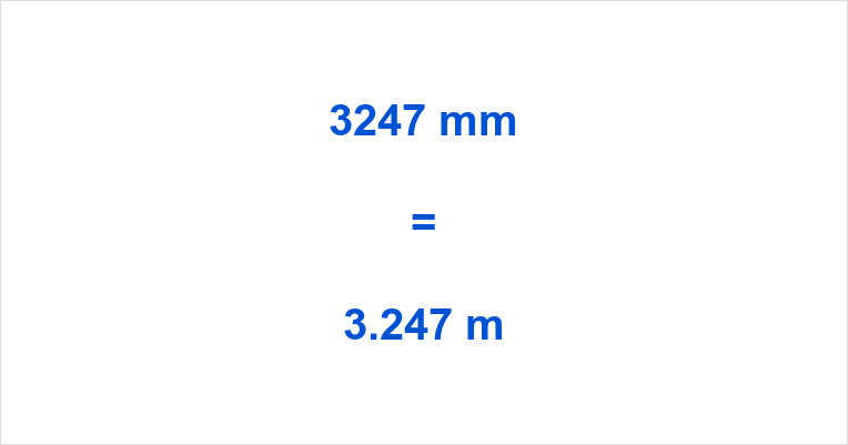 3247 mm to m