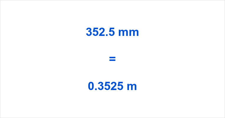 352.5 mm to m
