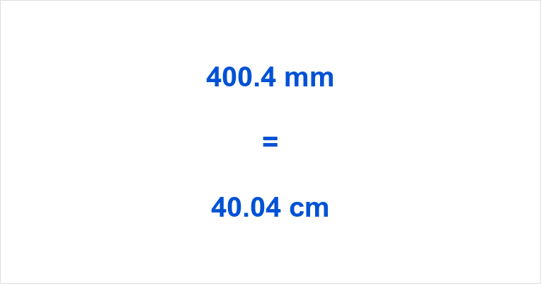 400.4 mm to cm