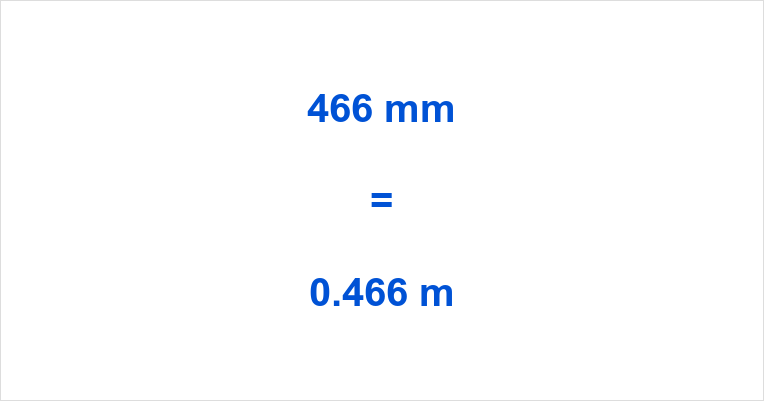 466 mm to m