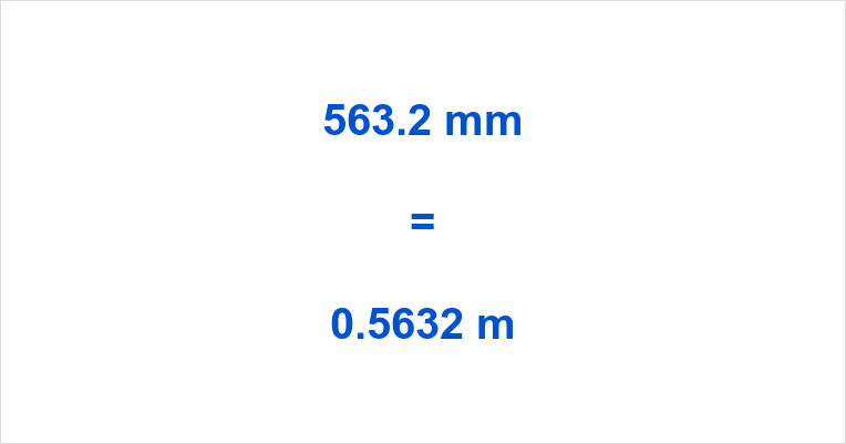 563.2 mm to m