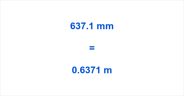 637.1 mm to m