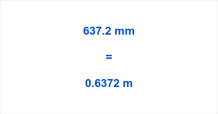 637.2 mm to m