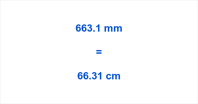 663.1 mm to cm