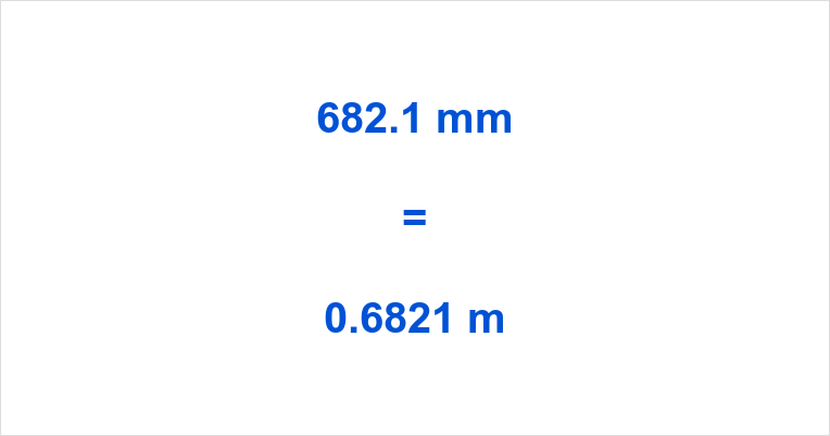 682.1 mm to m