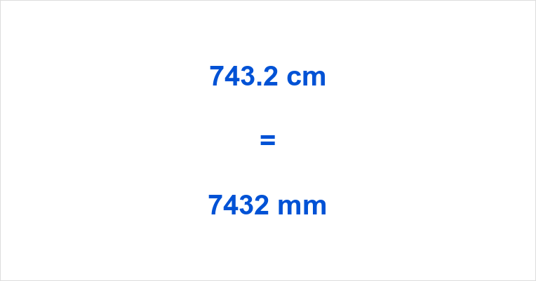 743.2 cm to mm