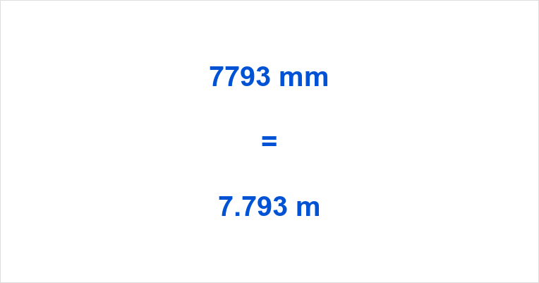 7793 mm to m