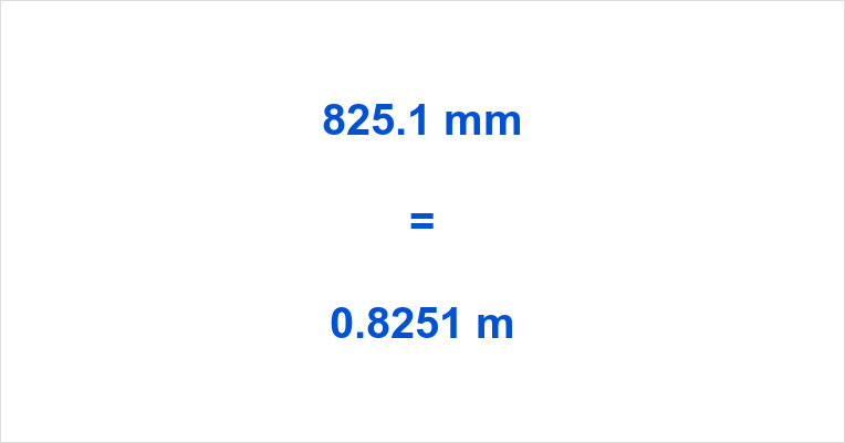 825.1 mm to m