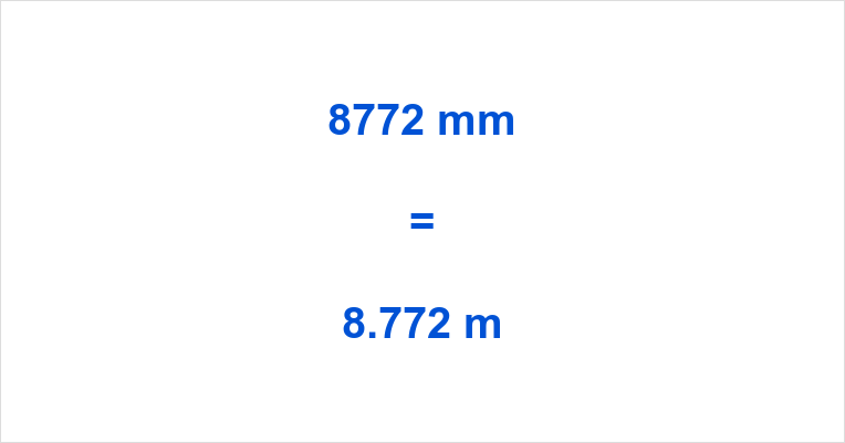 8772 mm to m