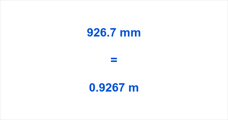926.7 mm to m