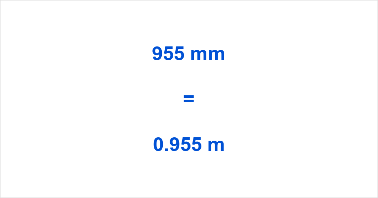 955 mm to m