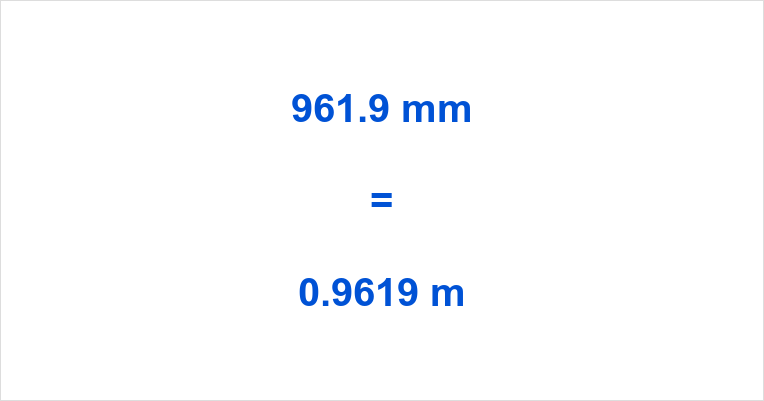961.9 mm to m