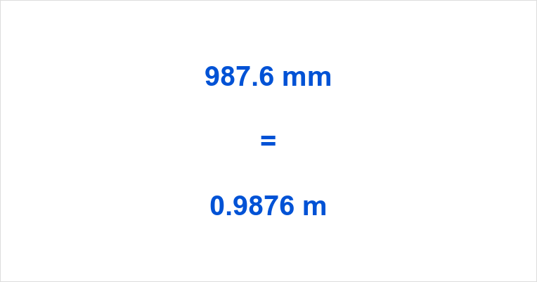 987 6 Mm To M 987 6 Millimeters To Meters