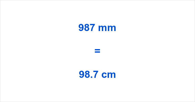 987 Mm To Cm How Many Cm In 987 Mm 987 Mm In Cm