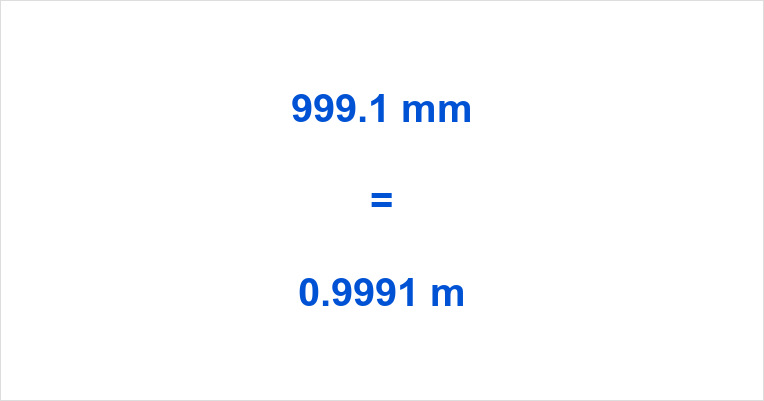 999.1 mm to m