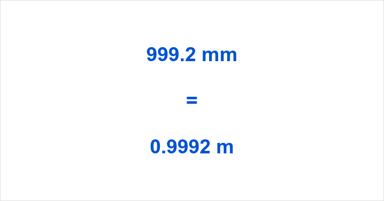 999.2 mm to m