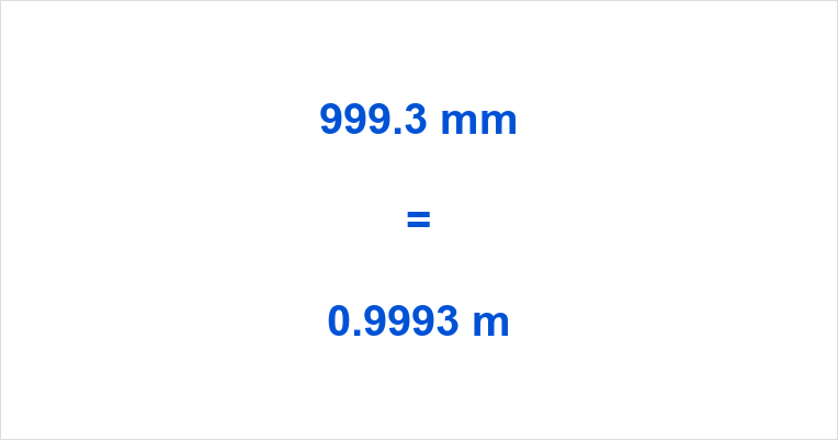 999.3 mm to m