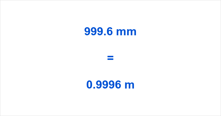 999.6 mm to m