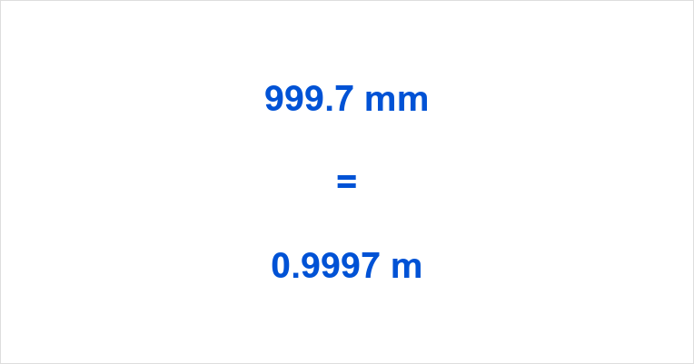 999.7 mm to m