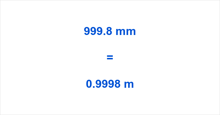 999.8 mm to m